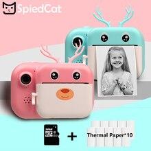 Детская камера Мгновенной Печати HD 1080P 24 МП, детская камера Polaroid с тепловой фотобумагой, творческие игрушки для подарка на день рождения