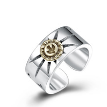 925 sterling silver fine jewelry for men women feather fashion opening couple gift ladies ring 925 Sterling Silver gifts for Women Men Flying eagle Opening Ring Jewelry Couple Adjustable Ring
