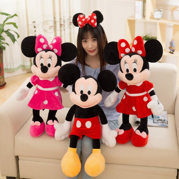 Gran oferta 20cm de alta calidad de peluche Mickey y Minnie Mouse muñecas de peluche regalos de bodas, cumpleaños para niños bebés Juguete de maquillaje para chico, juego de maquillaje para chico, juego de maquillaje seguro y no tóxico, juguete para niñas, bolsa de viaje, bolsa de belleza