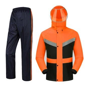 Waterproof Women Raincoat Set Portable Motorcycle Impermeable Hiking Adults Rain Coat Set Travel Women Raincoat Set  MM60YY