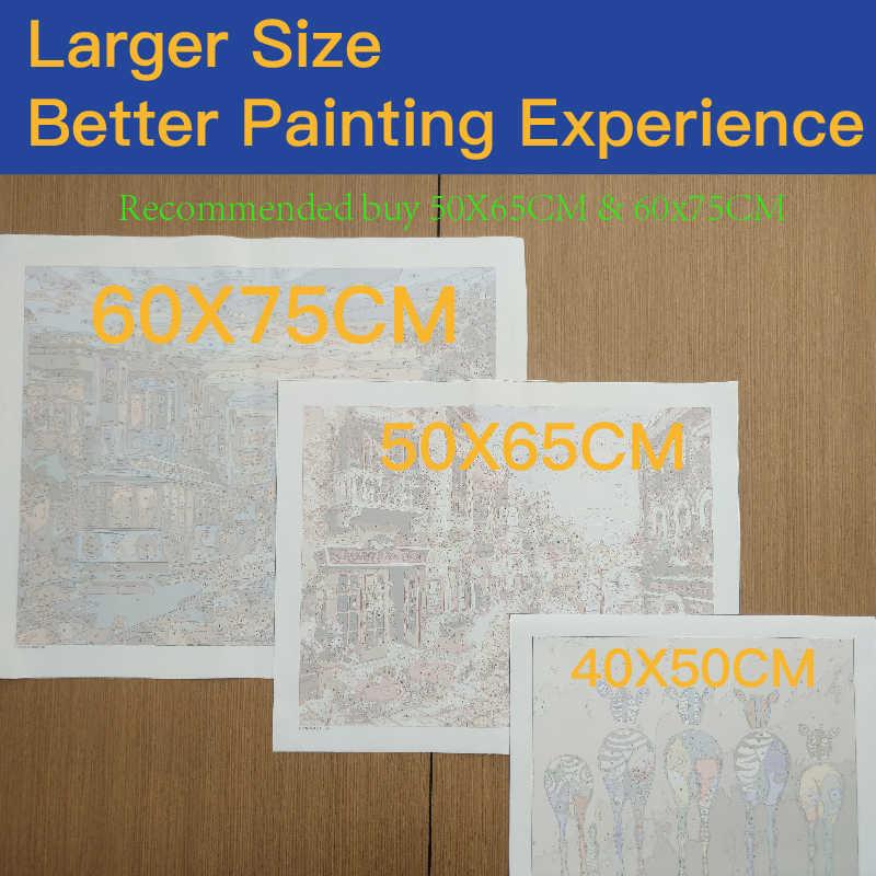 ภาพวาดยูนิคอร์นระบายสีDIYโดยหมายเลขเครื่องมือภาพที่สวยงามภาพวาดSurpriseของขวัญdropship