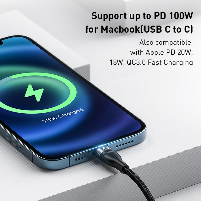 Baseus 3 in 1 USB C Cable for iPhone 12 Pro 11 XR Charger Cable 100W Micro USB Type C Cable for Macbook Pro Samsung Xiaomi 2