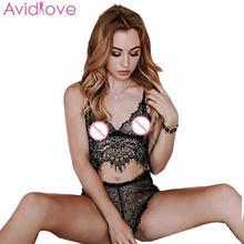 Женское привлекательное Эротическое белье перспективное кружевное нижнее белье комплект из двух предметов