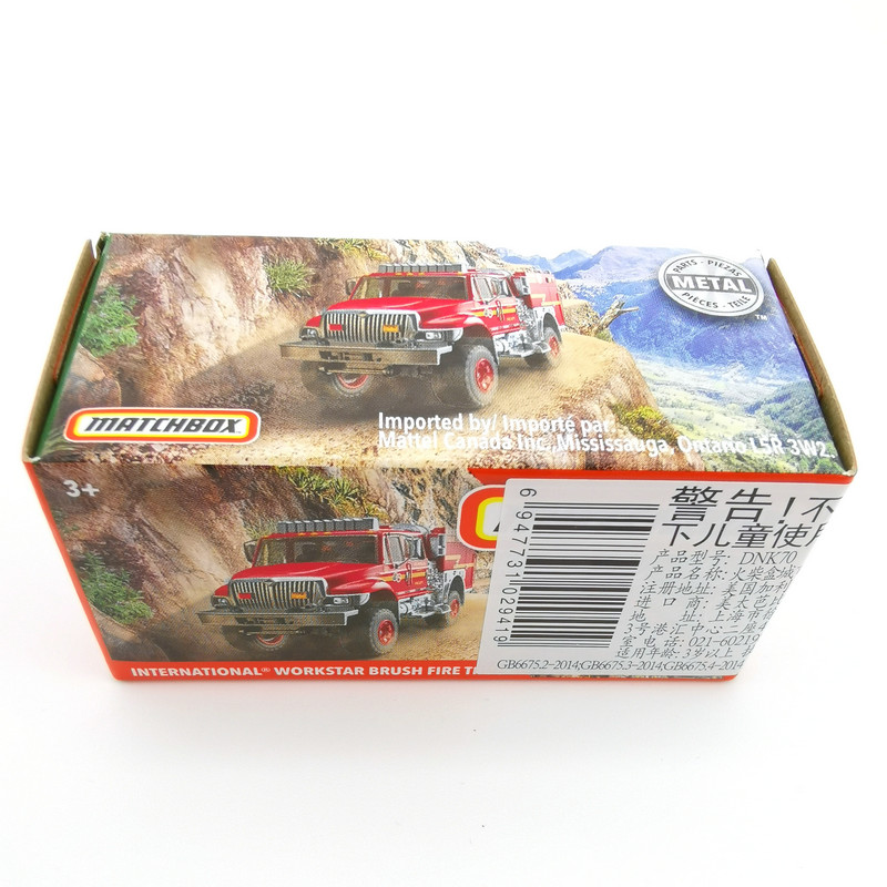 2020 Matchbox Cars 1:64 Car INTERNATIONAL WORKSTAR BRUSH FIREN TRUCK Metal Diecast Alloy Model Car Toy Vehicles