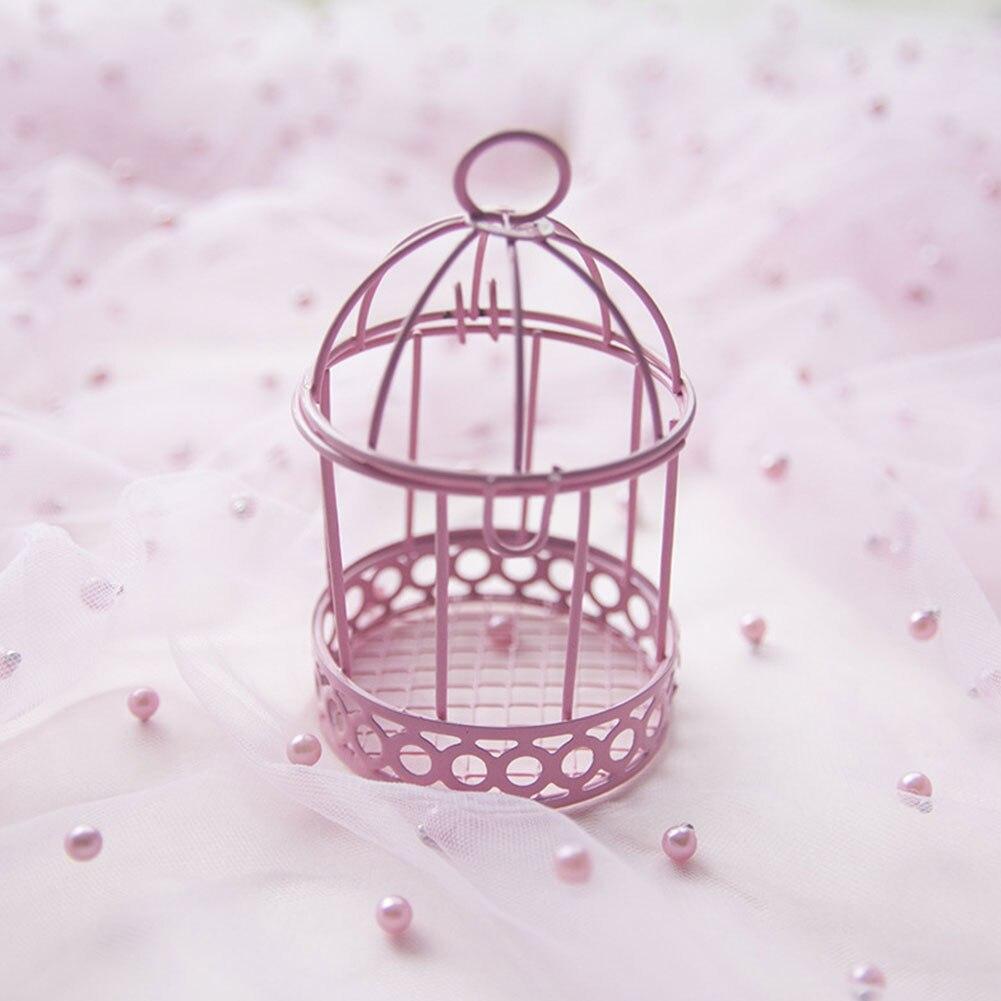 Caixa De doces Decorativos Mini Presente Para Casa Ornamento Do Casamento Festa Multicolor Prático Gaiola de Pássaro de Ferro Caixa De Armazenamento de Desktop