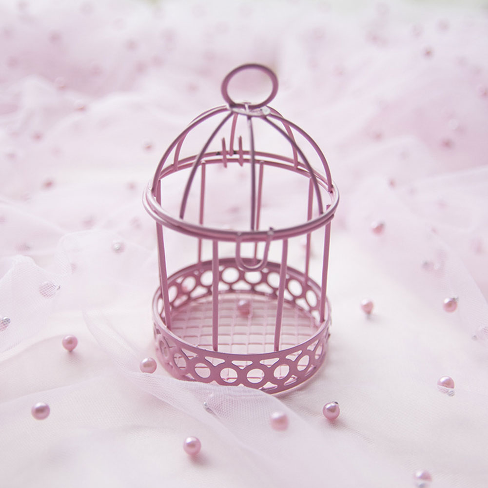 Candy Box Decorative Mini Gift Home Ornament Wedding Desktop Party Iron Multicolor Practical Bird Cage Storage Case