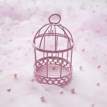 Candy Box Decorative Mini Gift Home Ornament Wedding Desktop Party Iron Multicolor Practical Bird Cage Storage Case(China)