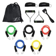 11Pcs Resistance Bands Set Pro Gym Fitness Bands Workout Home Elastic Band for Sports Exercise Bands Pilates Yoga Rubber Bands cheap Resistance Band Set Gym Strength Training