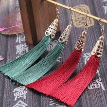 BTWGL Korean Fashion Temperament WomenS Tassel Earrings Popular Bohemian Long Retro Ladies Jewelry Gifts
