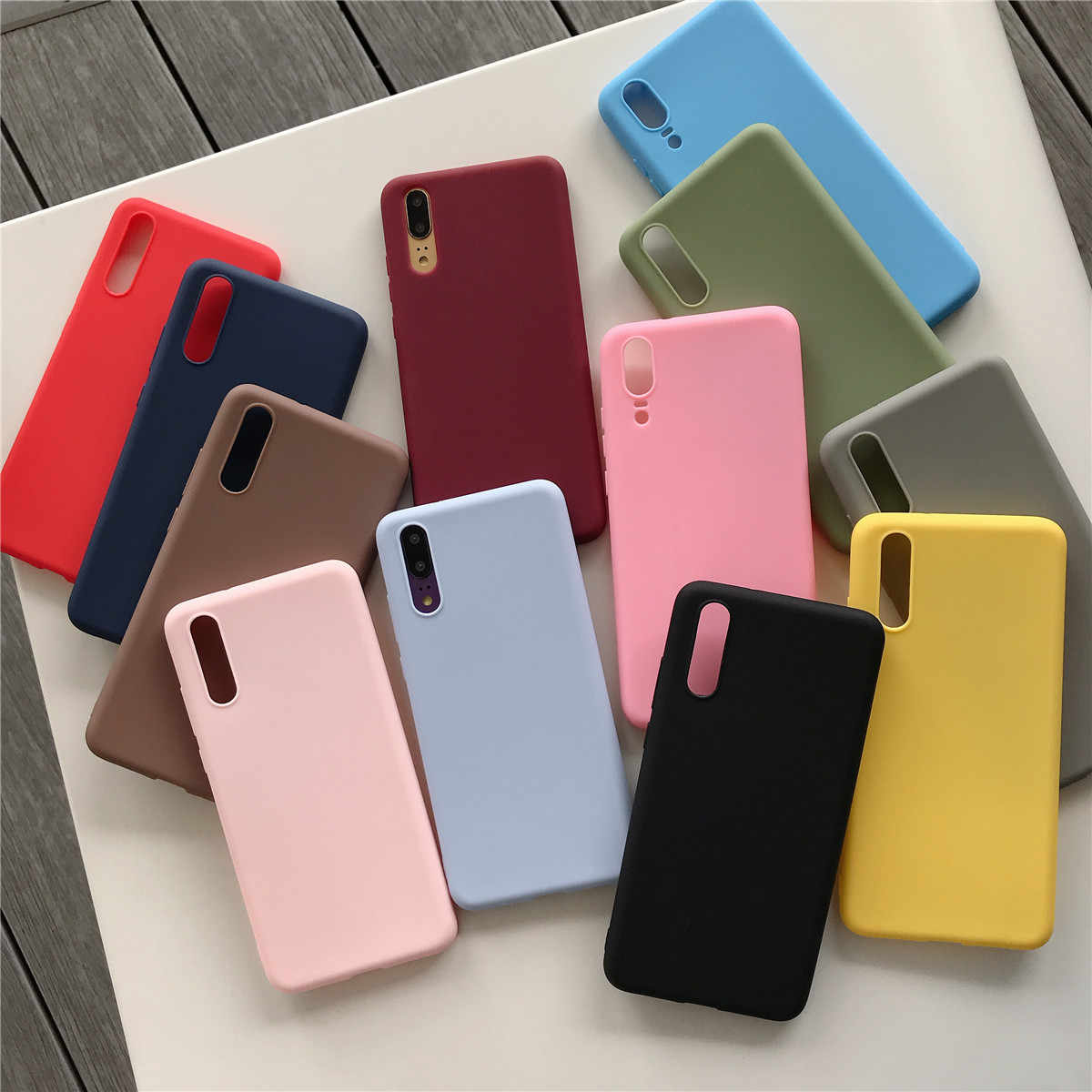 Candy Color Case For Samsung Galaxy A50 A20 A30 A50 J7 PRO J2 Prime Silicone Soft Shockproof Cover
