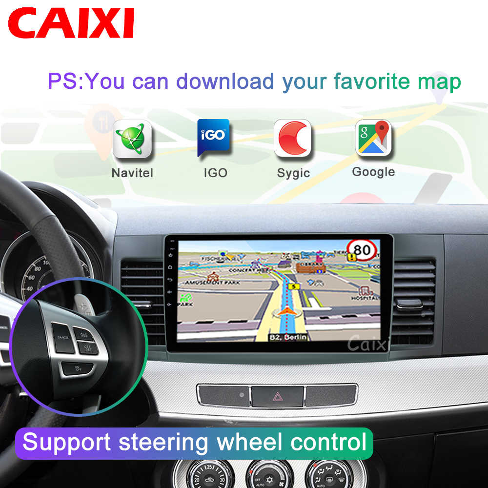 Android 8.1 Mobil Radio Multimedia Player untuk Mitsubishi Lancer 2008-2009-2010 2016 Video Audio 2 DIN 10 Inch mobil Pemutar DVD