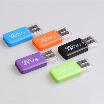 Di alta Qualità Mini USB 2.0 Card Reader per Micro SD Card Carta di TF Card Adapter Plug and Play Colourful Scegliere da per Tablet PC image