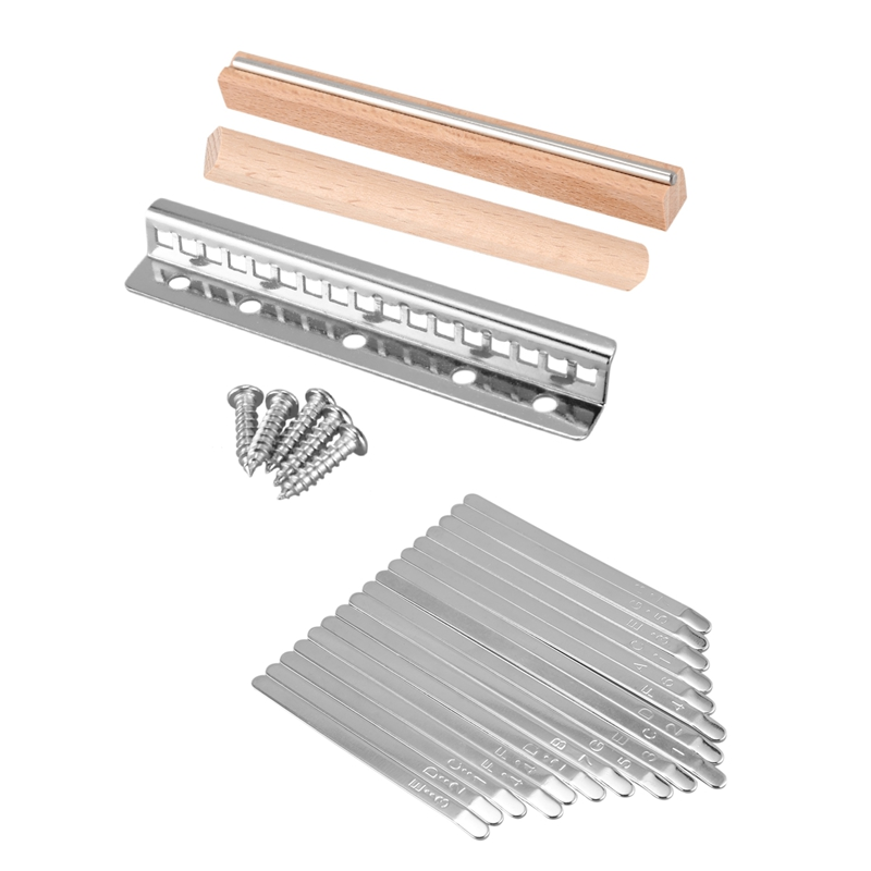 1 Set Steel Kalimba Mbira DIY 17 Keys With Thumb Piano Bridge Musical Instrument Parts For Luthiers Makers