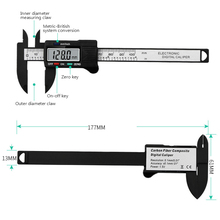 Electronic digital display traveling scale 0-100mm key plastic measuring tool internal and external diameter measuring tool