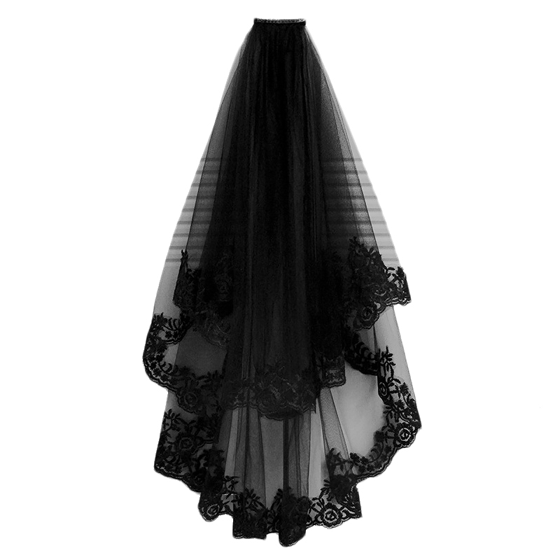 Wedding Veil Cathedral Hair Veil With Comb Lace Ed Ge Two Layers Tulle Short Bridal Veil Wedding Accessories Party Dress