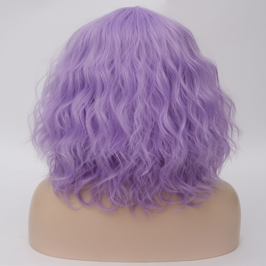H9f245df7aba74ad99952d571d93616bdz - Similler Short Synthetic Wig for Women Cosplay Curly Hair Heat Resistance Ombre Color Blue Purple Pink Green Orange Two Tones