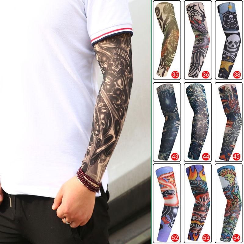 Arm Sleeve Fake Tattoo Sleeve Men And Women Arm Warm Design Summer Sun Sleeve Tattoo Sunscreen UV Protection High Elasticity