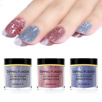 1 bottle of 20g Nail polish glitter dipping powder Colorful color changing Laser Beauty Art Decoration
