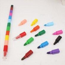 1 Набор, красочные 12 цветов, масляные краски, ручки Cratons Stacker, карандаши для рисования, художественная краска, подарок для детей, пастельные мелки