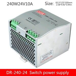 Chuyển Đổi Nguồn Điện DR-240-24V10A DIN Đường Sắt Gắn DC DRP10A Điện Đường Sắt Theo Dõi Biến Áp Đèn Led Công Nghiệp Cung Cấp Điện