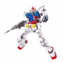 new transformation super giant robot mecha gundam model lepinings technic rx78 2 fixed building block brick christmas toy Robot Block Super Robot War Mecha Classic Gundam Model 18K RX78-2 1:60 3500Pcs Fixed Bracket Building Block Bricks Boy Toys
