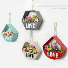 Metal Creative Hanging Flower Basket for Wall Decoration Home Garden Decor Plant Flowers Pots Wall Decor