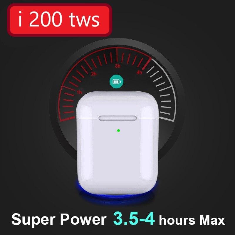 I200 tws parfait Clone Air 2 sans fil Bluetooth écouteur Original Animation sans fil casque Pop-up dans l'oreille détection pour IP6 7