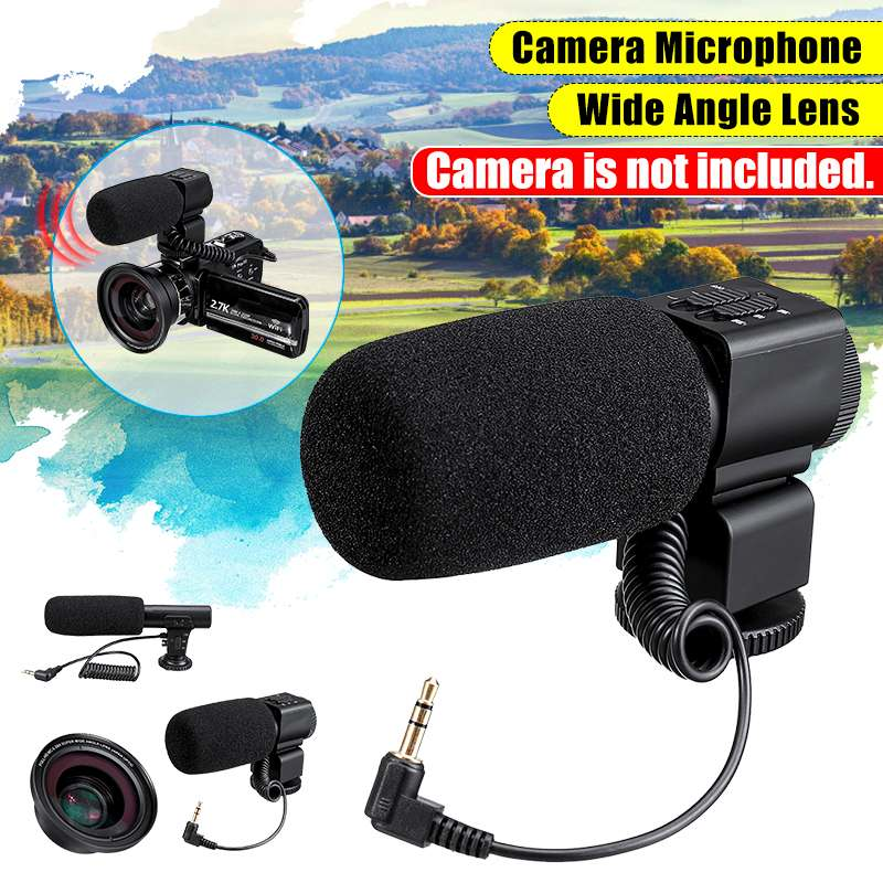 Professional 4K HDR Camcorder Video Camera Wide-angle Lens Audio Plug for Camera Digital Video Computer Camcorder Accessories image