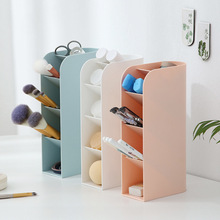Desktop Storage Large Capacity Desk Pen Holder Pencil Makeup Storage Box Desktop Organizer Stand Case School Office Stationery tanie tanio Liplasting CN(Origin) Other Eco-Friendly Rectangle