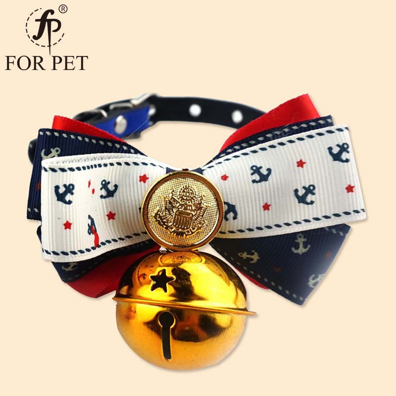 Feng Pei Pet Supplies Hot Selling Fashion Small Dog Cat Neck Ring Large Bell Bow Dog Neck Ring Pet Collar