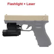 Tactical Red Dot Laser Pointer Sight Handgun Flashlight For Glock 17 19 24 P226 Airsoft LED Gun Torch 20mm Rail Flashlight Mount 5mw red laser gun grip w flashlight for 20mm rail black 3 x cr123a