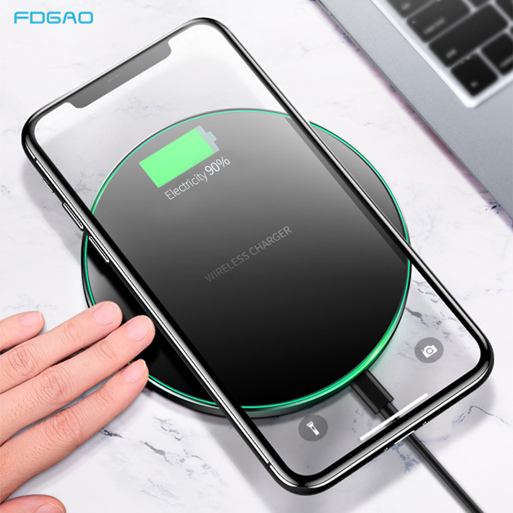 15W QI Wireless Charger Universal Quick Charging USB Fast Charger QC 3.0 Phone Charger Station For iphone 11 Pro Samsung S20 S10