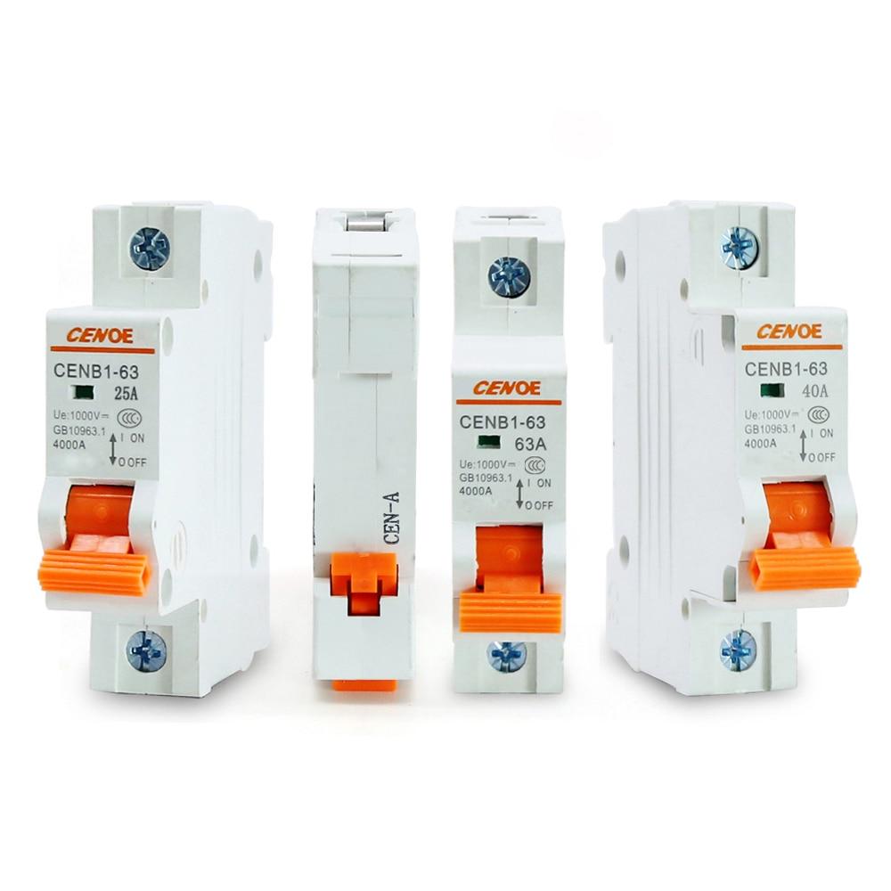 2P 32A DC 250V  Solar Circuit breaker MCB  antiflame Air switch best quality