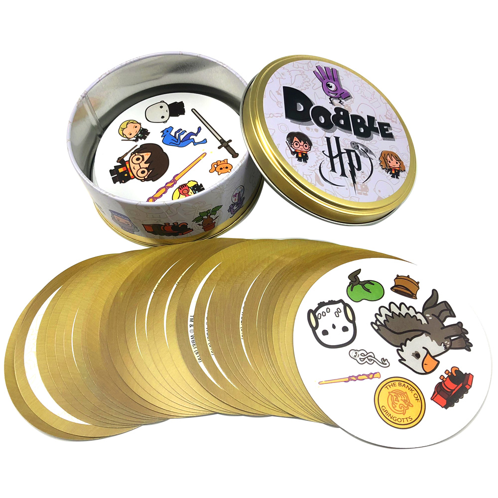 Toy Board-Game Iron-Box Spot-It-Card Gift Harried Potter Animal Dobble Sport Kids Camping
