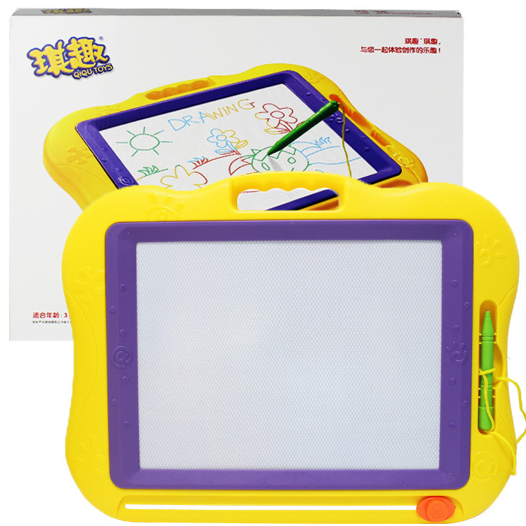 9988a Qiqu Toys Magnetic Color WordPad Have 3C Magnetic Plastic Drawing Board