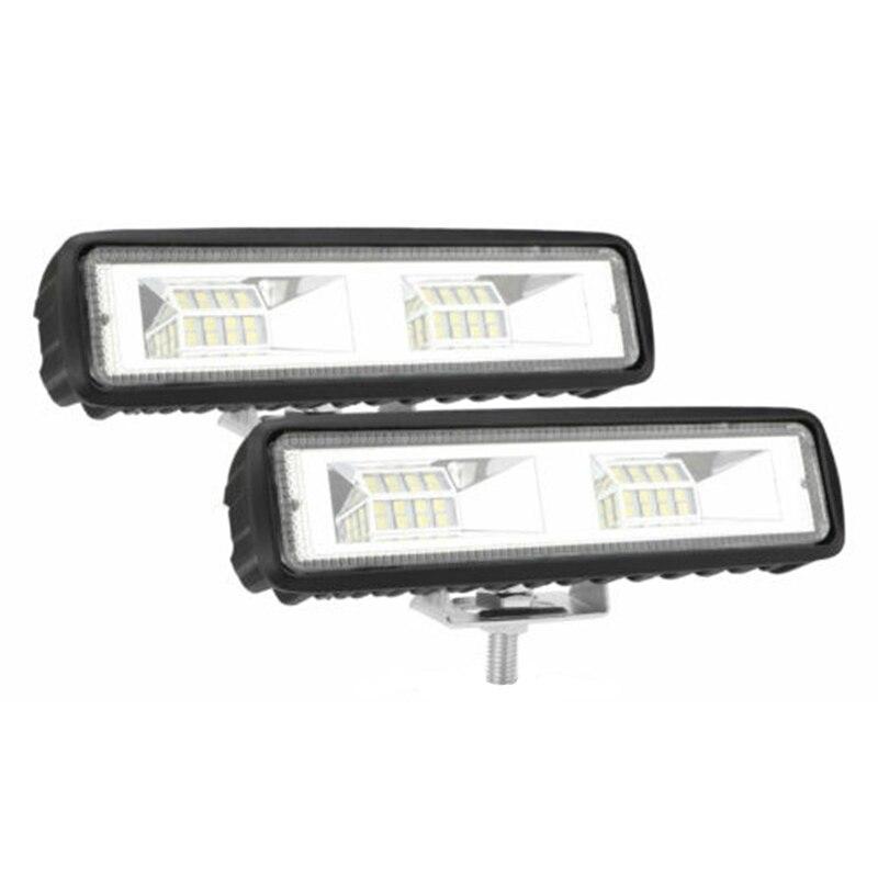 2X 6 Inch LED Car Work Light 48W Driving Strip Light Beam Light Bar 4WD SUV Offroad Light Bar/Work Light  - AliExpress