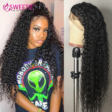 30inch 13X6 13X4 Lace Front Wigs Brazilian Kinky Curly Lace Frontal Human Hair Wig Preplucked Glueless 4X4 Lace Closure Wigs