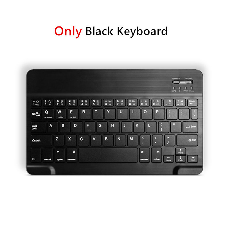 Only Black Keyboard Gray Bluetooth Keyboard Case For Apple iPad 10 2 2019 7th Generation PU Leather Cover for iPad