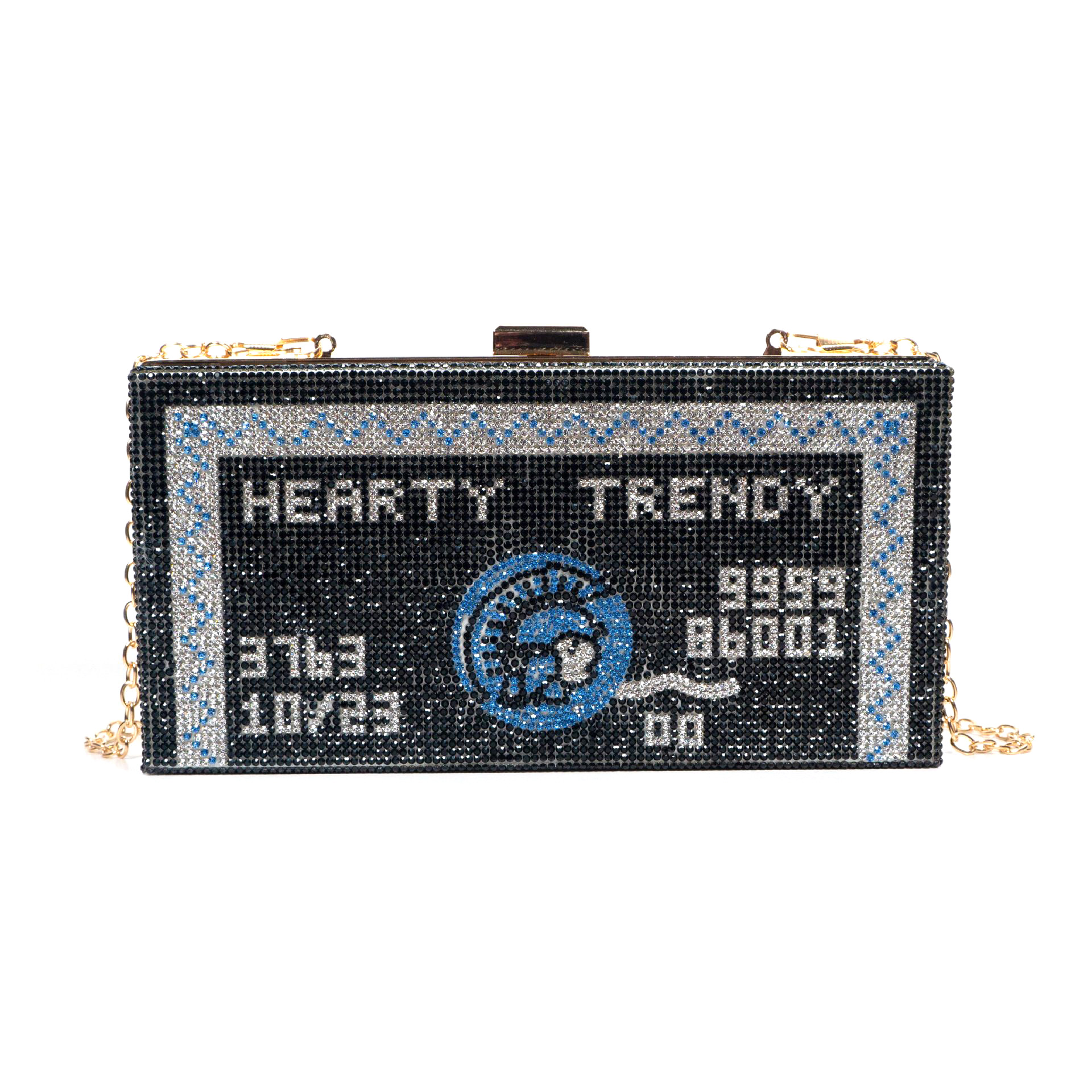 Bags for Woman AMEX Centurion Card Women Crystal Clutch Purse Metal Box Evening Bags Wedding Party Handbags Cocktail Dinner Bag-BeeInFly