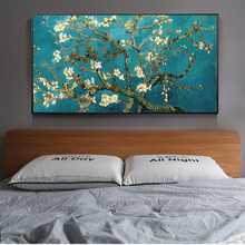 Almond Blossom Canvas Paintings by Van Gogh Impressionist Art Posters And Prints Van Gogh Flowers Art Pictures for Living Room