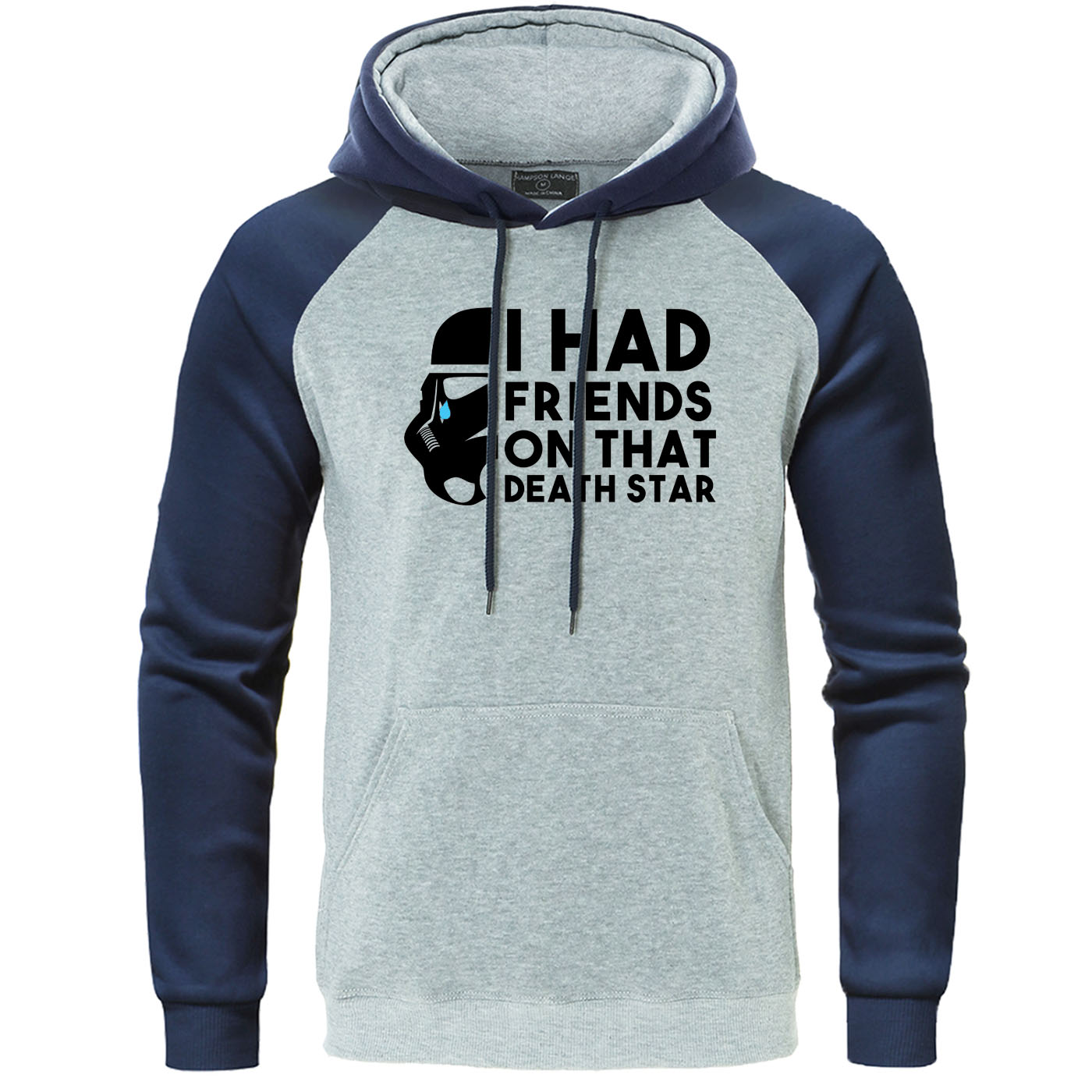 Star Wars Raglan Mens Hoodies I Had Friends On That Death Star Letter Print Hooded Sweatshirt Autumn Pullover Brand Men Clothing