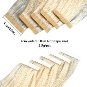 """Image 4 - Fita reta do plutônio do cabelo humano de remy nas extensões do cabelo 14 """" 26"""" polegadas fita reta de bigsophy nas extensões do cabelo humano da trama da pele do cabelo humano"""