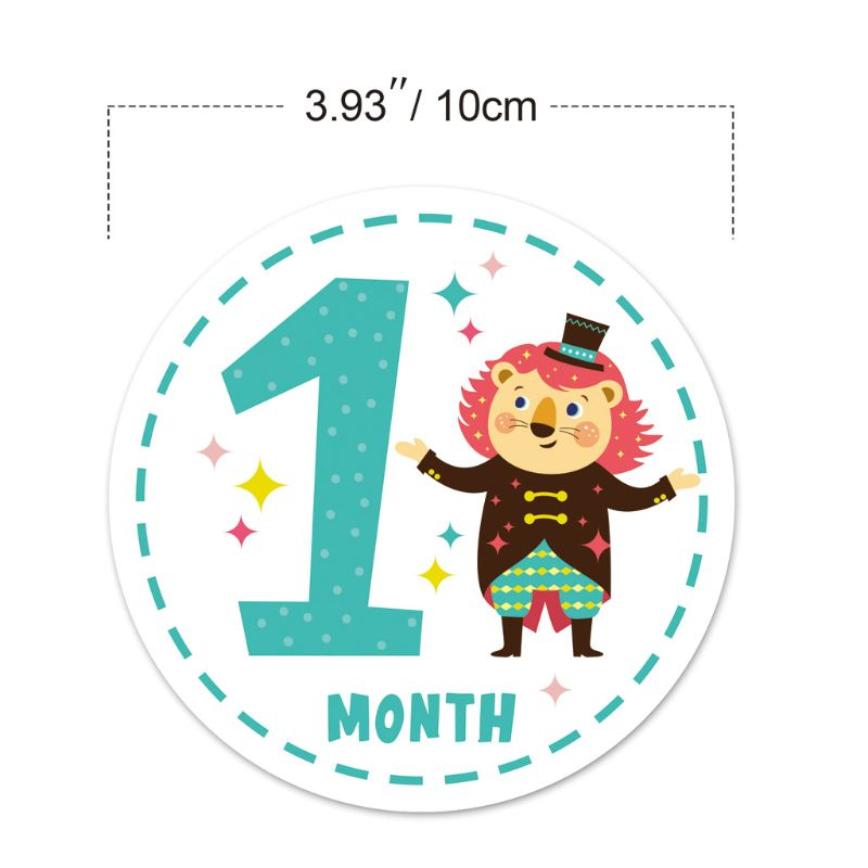 12 Pcs Baby Monthly Milestone Stickers Shower Registry Gift Scrapbook Photo Memory Keepsake Stickers Hot