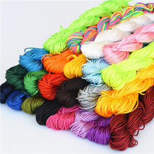 hot DIY 6Colors 25m Velvet Cord Thread Tassels Beading String Thread Chinese Knot Cord Bracelet Braided Macrame String(China)