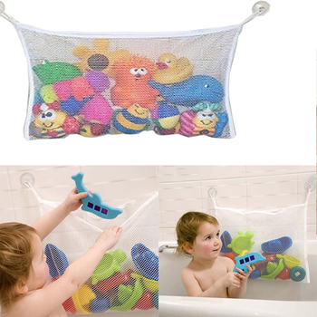 Toy Mesh Bag Suction Cup Baby Stuff Net Holder Children's Bath Play Toys Storage Bags Kids Bathroom Bathtub Plush Doll Organizer image