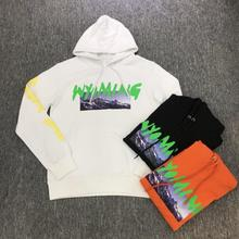 купить Kanye West Hoodies Season 5 ASTROWORLD Wyoming Mountain Pattern Women Men Pullover Sweatshirt Skateboards Vetements Hoodie дешево