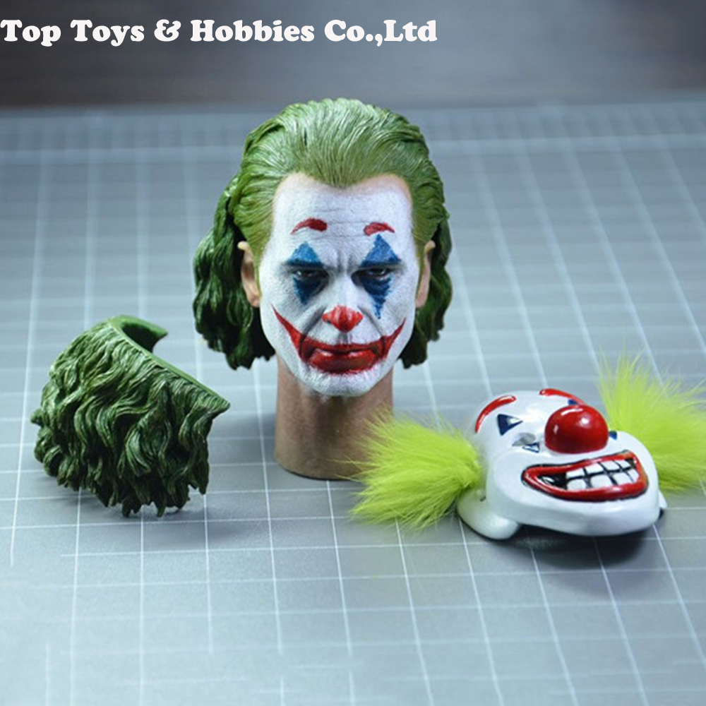 1/6 Scale Male Head Joker Joaquin Phoenix Head Sculpt TOP-004 Makeup Ver. PVC Head Model Toys Fit 12