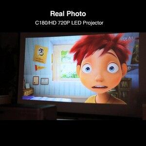 Image 3 - C180AB נייד מיני אלחוטי WiFi LED חכם אנדרואיד מקרן 720p מובנה רמקול Bluetooth מלא HD קולנוע ביתי וידאו Beamer