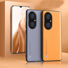 For Huawei P50 P40 Pro Case Luxury Soft Vegan leather Grain Slim protective Back Cover Case For huawei P30 P20 pro P50PRO P40PRO
