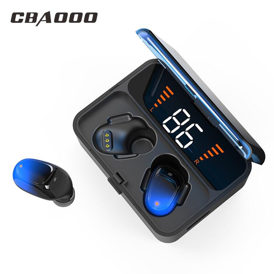 CBAOOO ES01 TWS Fones de Ouvido Bluetooth 5.0 9D IPX7 Gaming headset fone de ouvido Estéreo fones de ouvido Sem Fio ir LED À Prova D' Água Smart Power